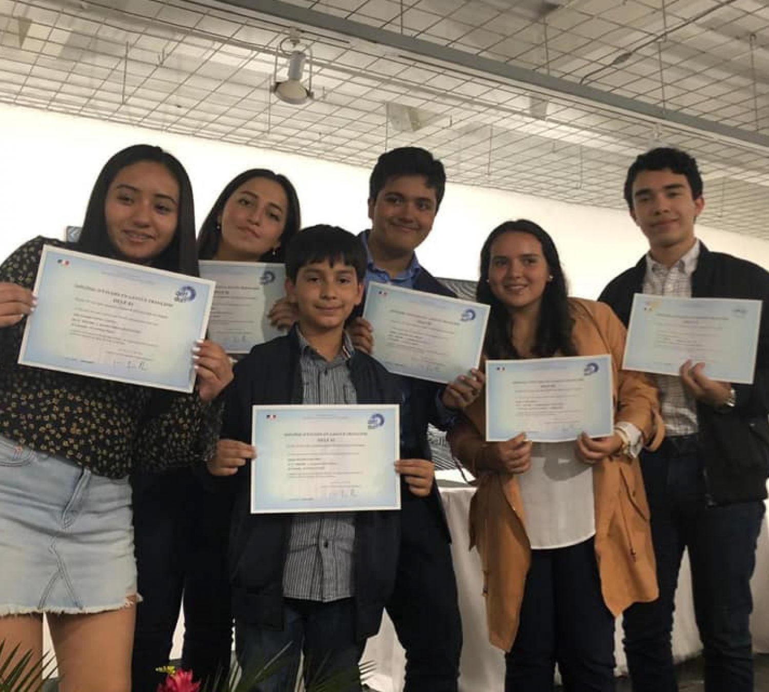 Village students received DELF diplomas levels A1, A2 and B1